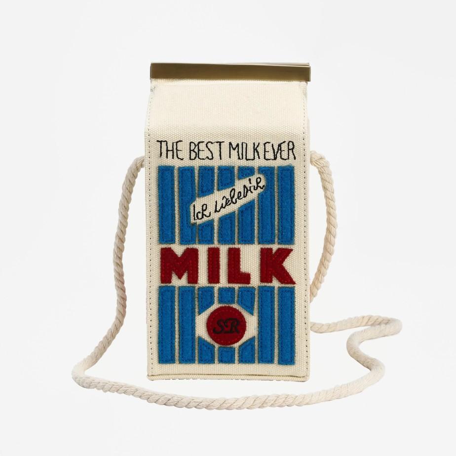 White Milk Cartons Shoulder Bag - Shein