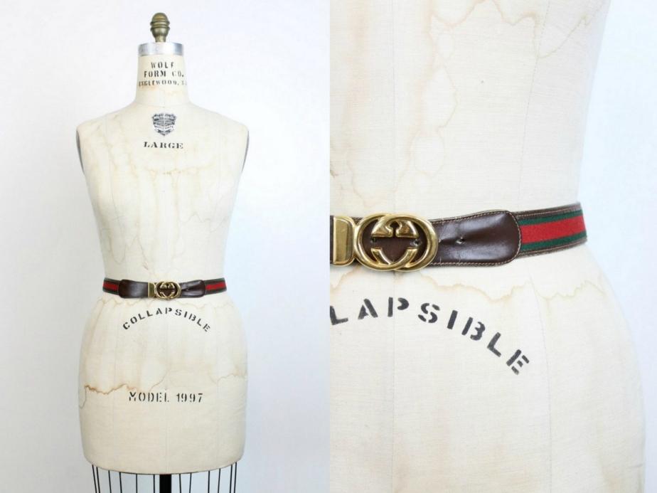 70s Gucci Belt Medium- Large - CrushVintage