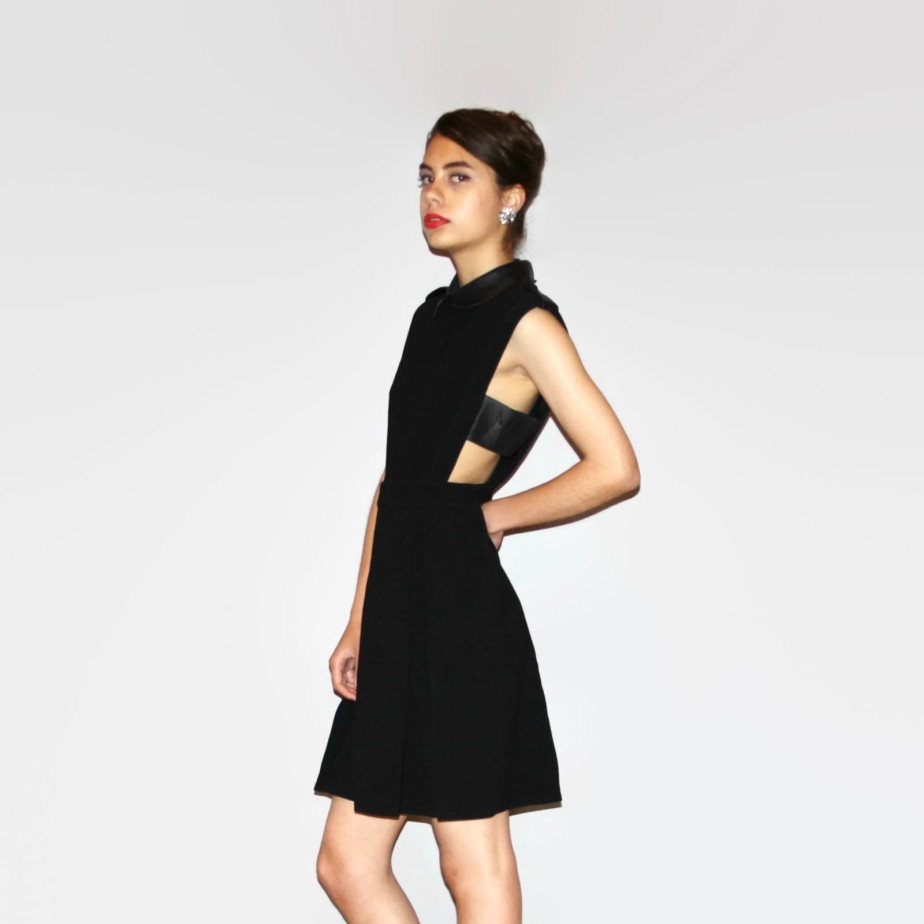 Authentic GUCCI Little Black Cutout Dress with Peter Pan Collar LBD - aiseirigh