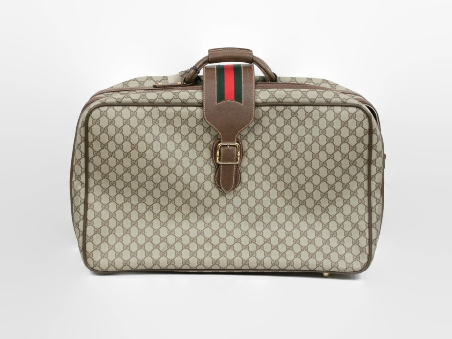 GUCCI Vintage GG Monogram Canvas Suitcase - ciocci