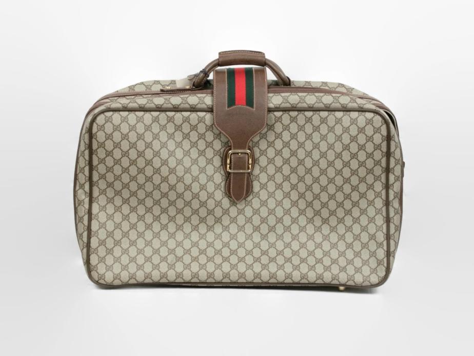 GUCCI Vintage GG Monogram Canvas Suitcase - ciocci