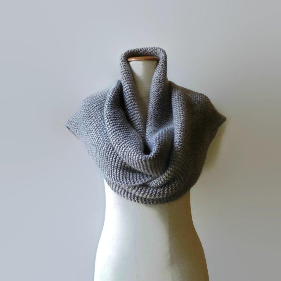 Gray Wool Extra Long Scarf - branda
