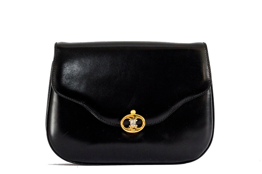 Vintage Celine black leather bag - BagsTalk