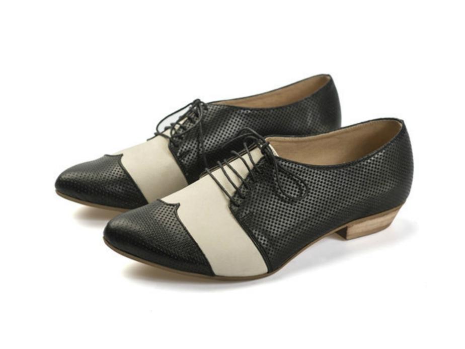 Zapatos Oxford en blanco y negro de TamarShalem