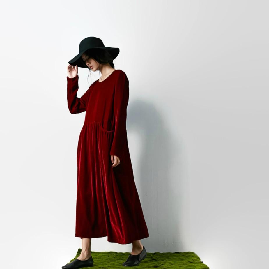 Vestido de terciopelo de seda de BonLife