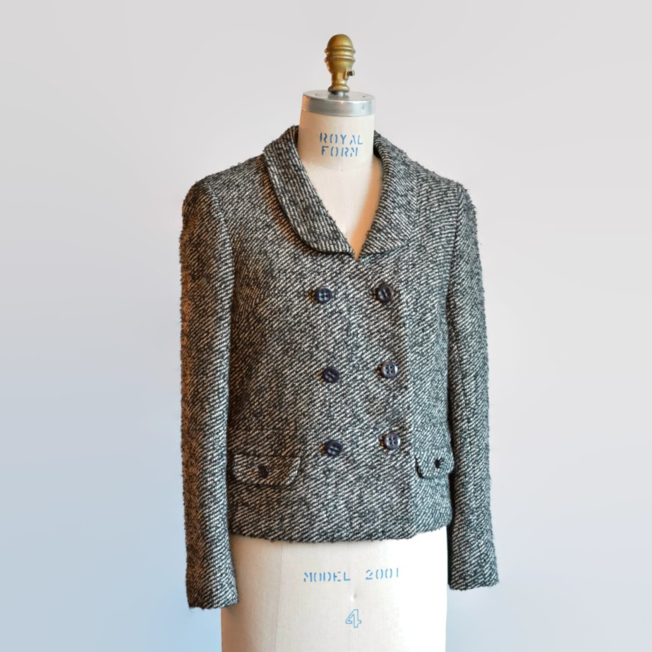Chaqueta en Tweed de Lana Vintage 1960s - storyofthings