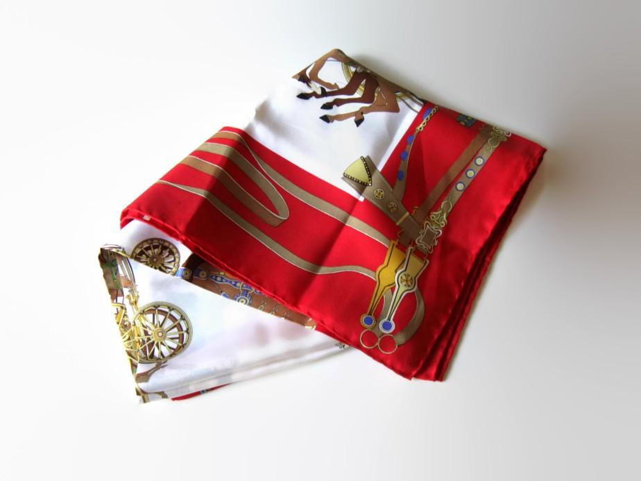 Vintage Gucci Equestrian Silk Scarf - jewelryandthings2