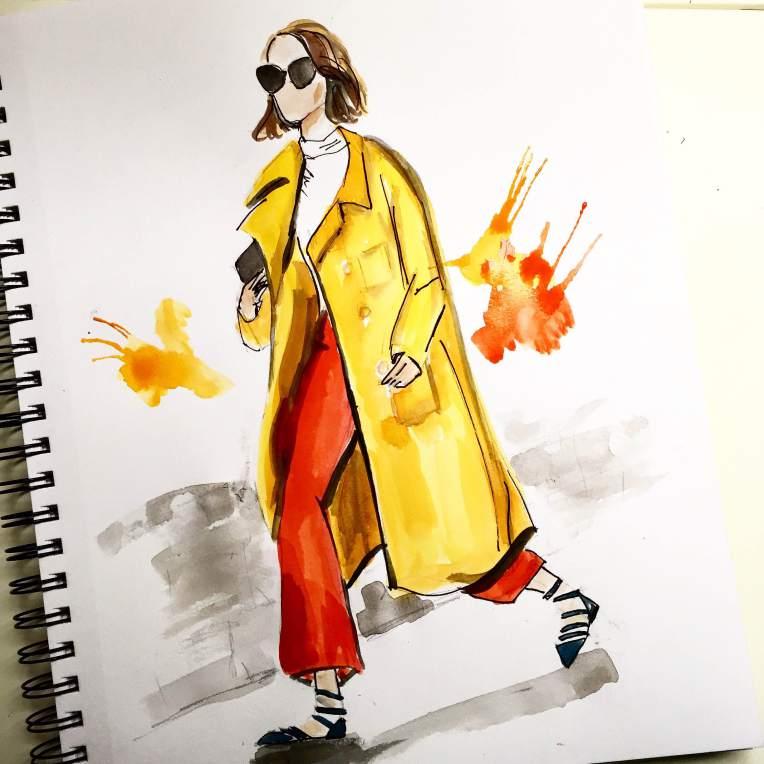 Street Style Illustrations MFW & PFW - lakshsarkar