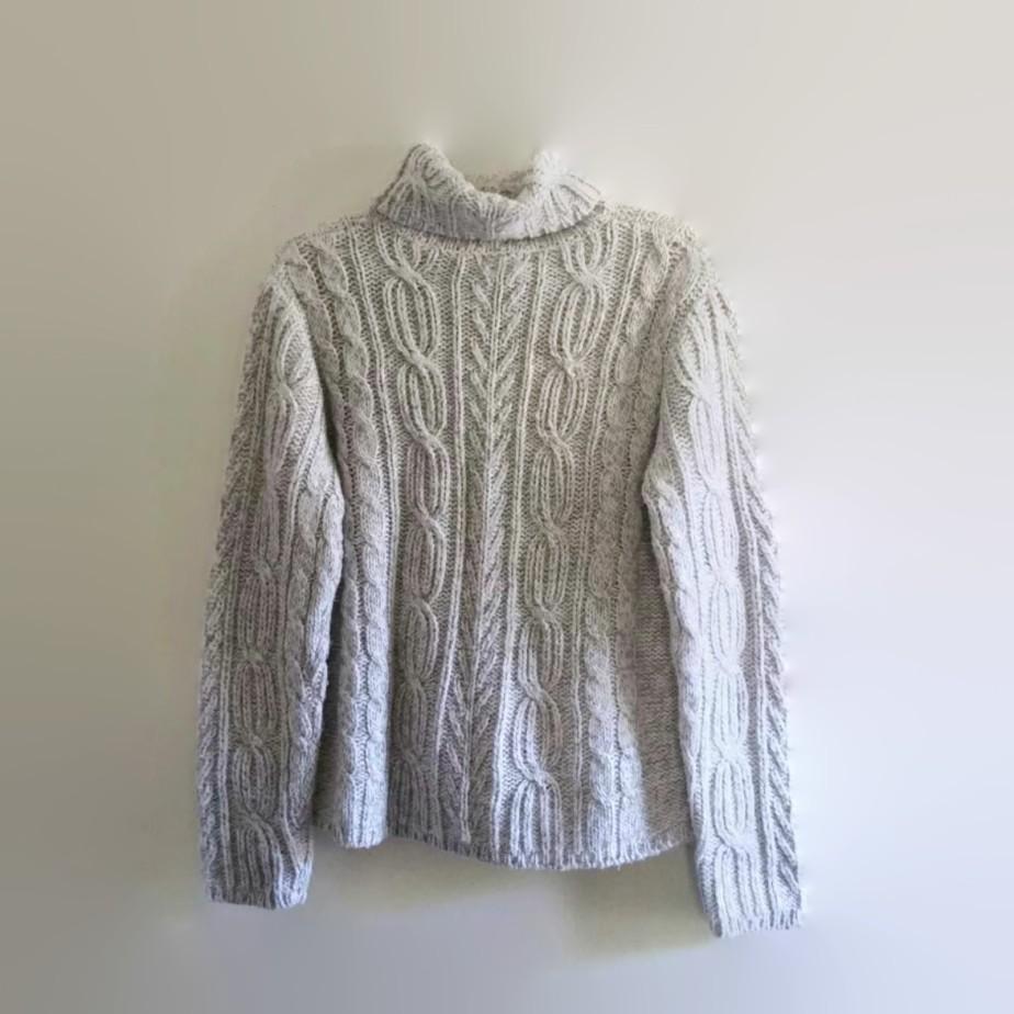 Vintage 1980s St Johns Bay Gray Turtleneck Sweater - jnh5855