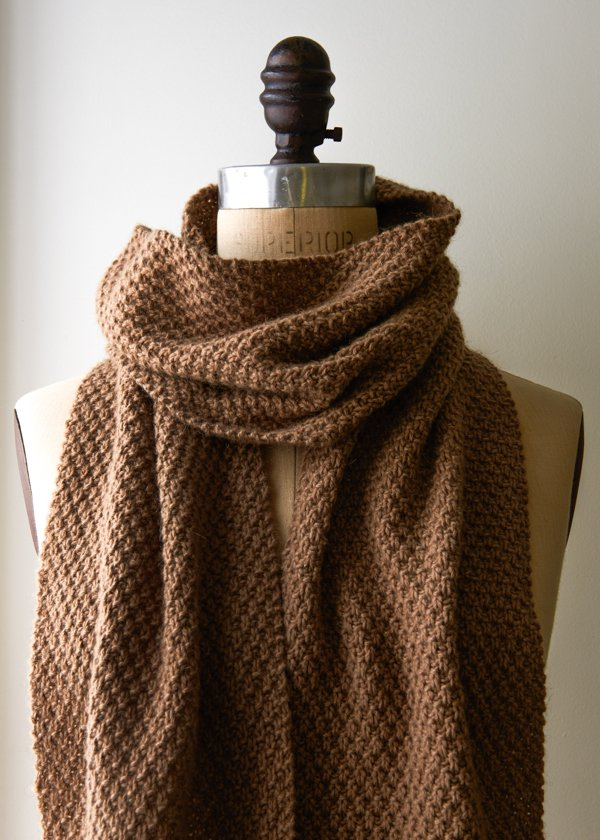 Double Seed Stitch Scarf - Purl Soho