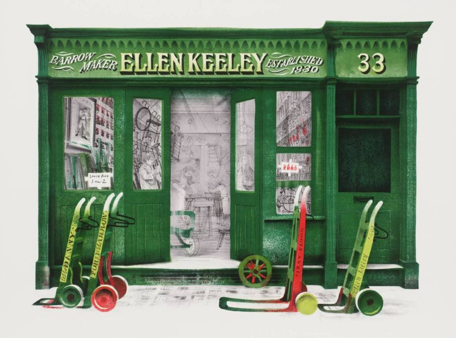 Ellen Keeley's Shop 1972 - David Gentleman