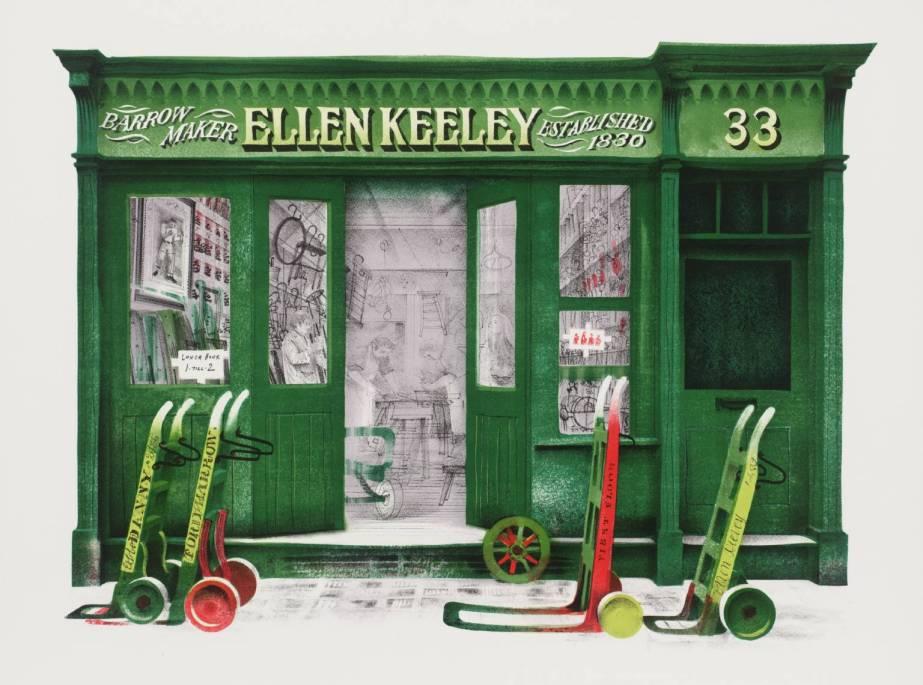 Ellen Keeley's Shop 1972 - David Gentleman