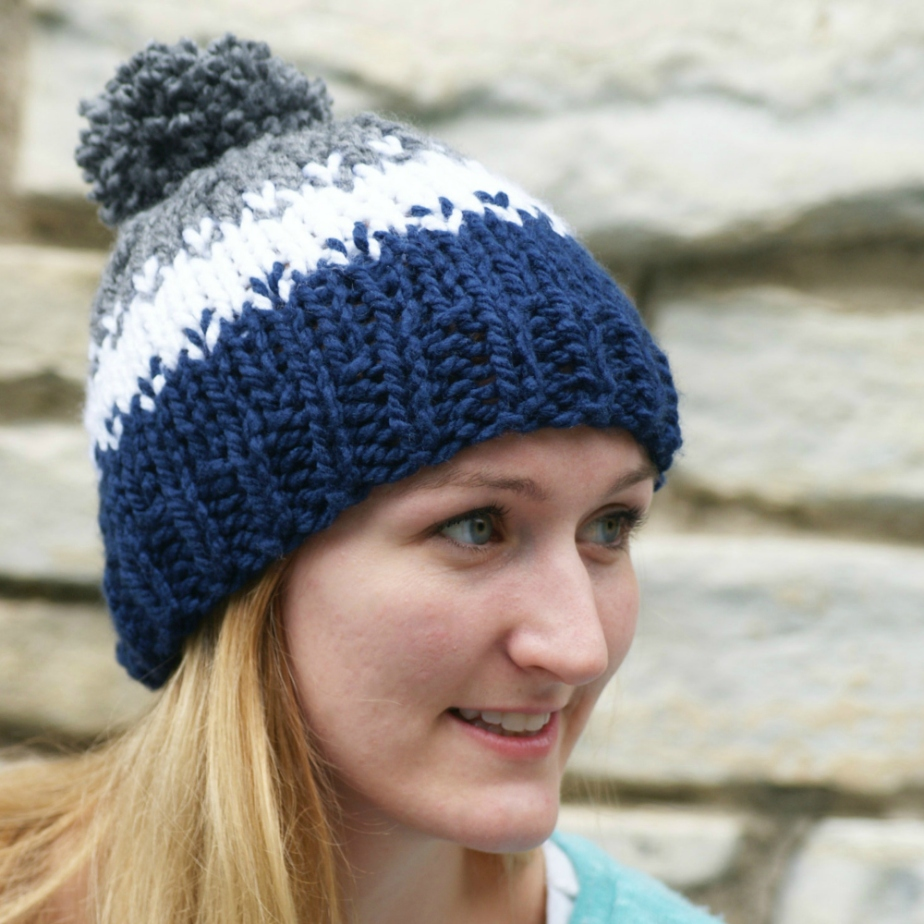 Women's Fair Isle Knit Hat por SparklyTwig