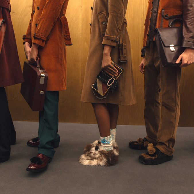 Photo by Marcella Magalotti. Backstage at Prada during Milan Fashion Week Men's, 2017