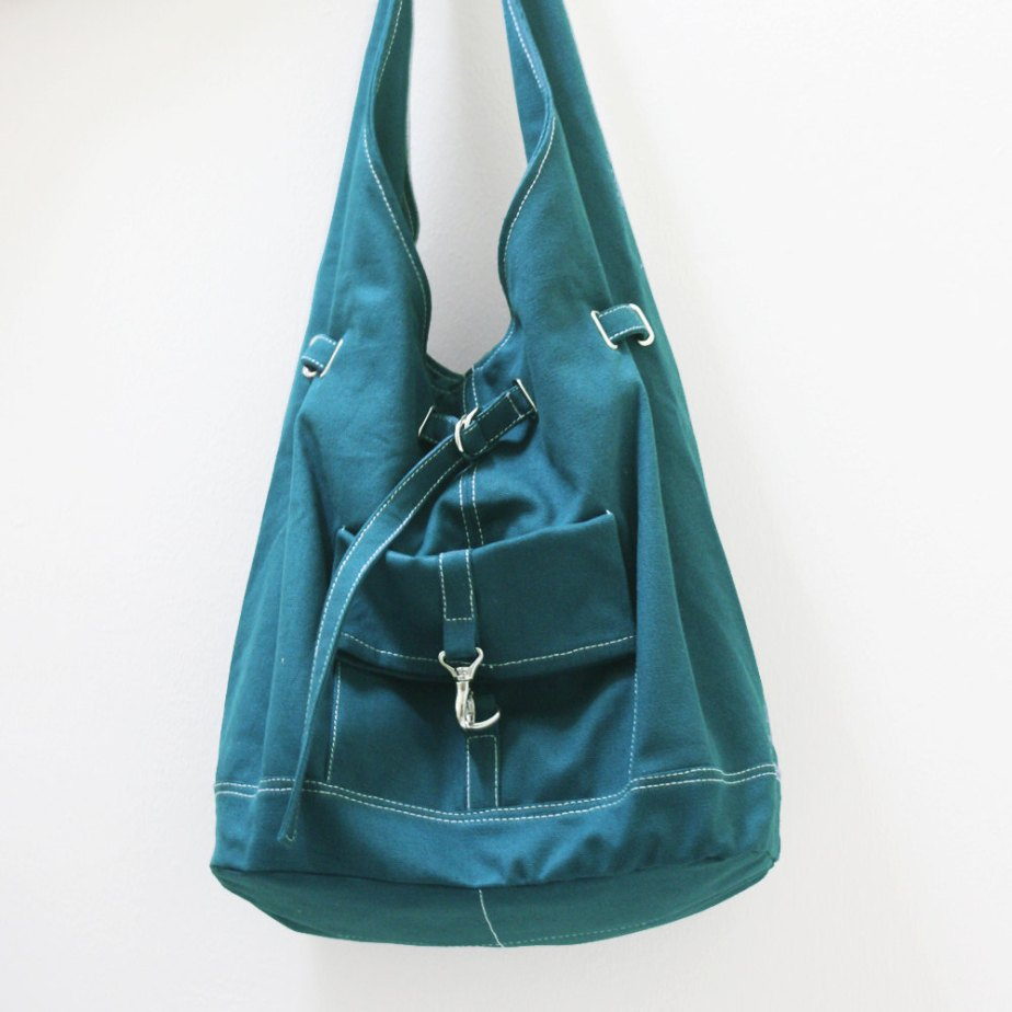 Canvas Shoulder bag in Teal by Kinies
