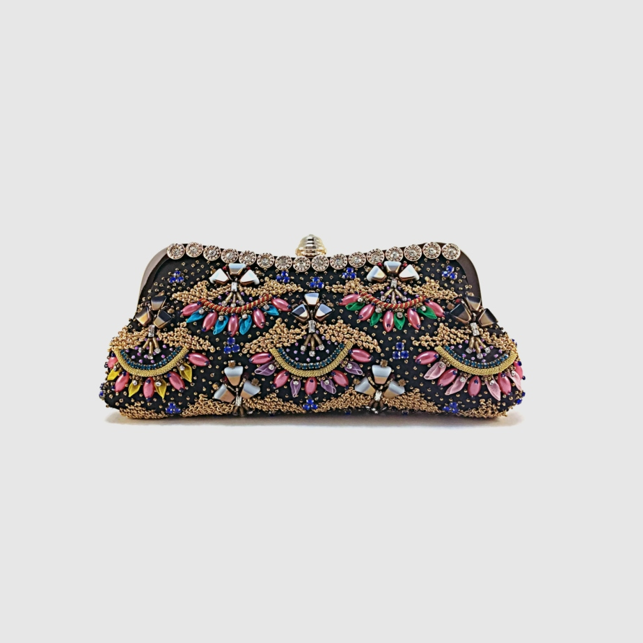 Fine art motif work of embroidery, evening bag de MazCollection