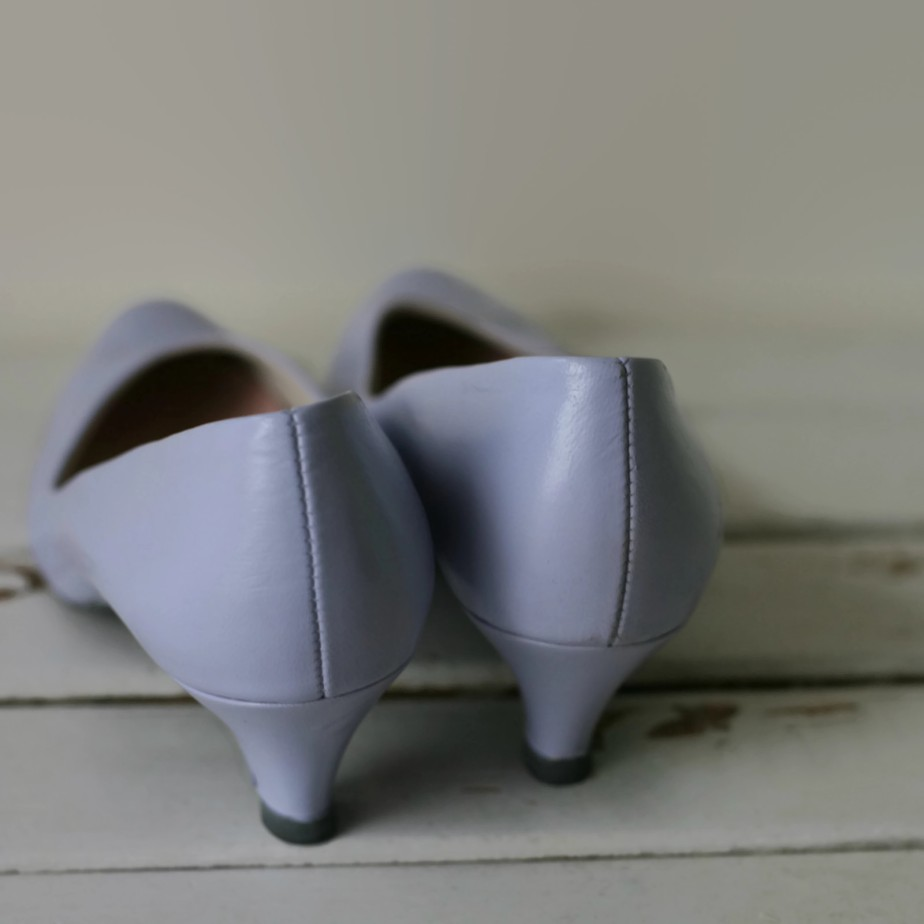 1960s Vintage PURPLE LEATHER Heels by retroandme