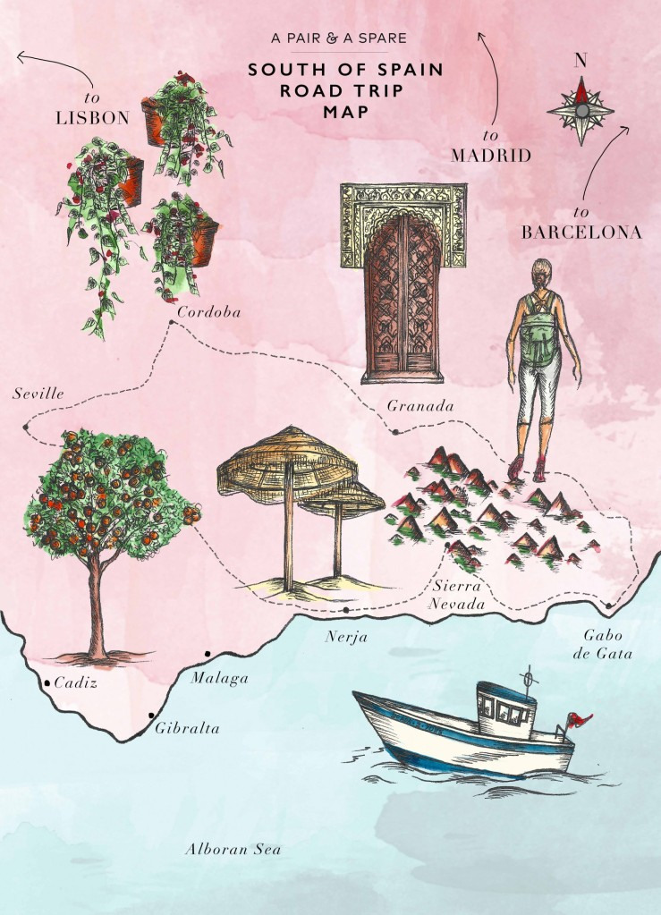 El mapa de un viaje al sur de España - A Pair & A Spare