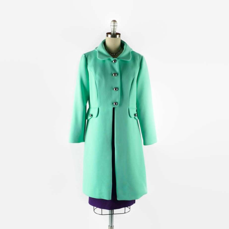1960s Coat Mint Green Coat by SwellFarewell