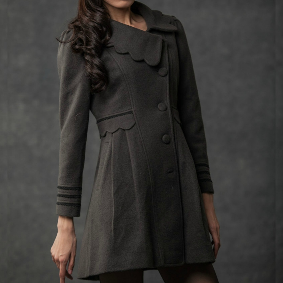 Gray Winter Coat by YL1dress