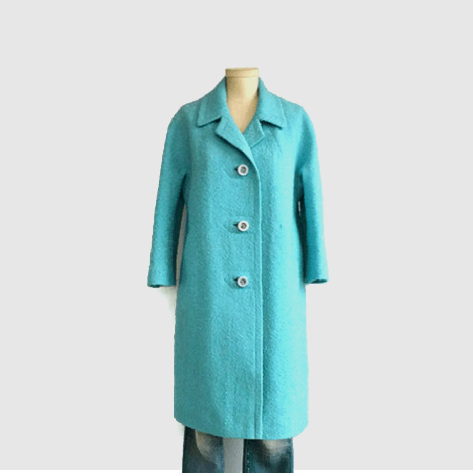 Vintage 60s Mod Wool Coat by zestvintage