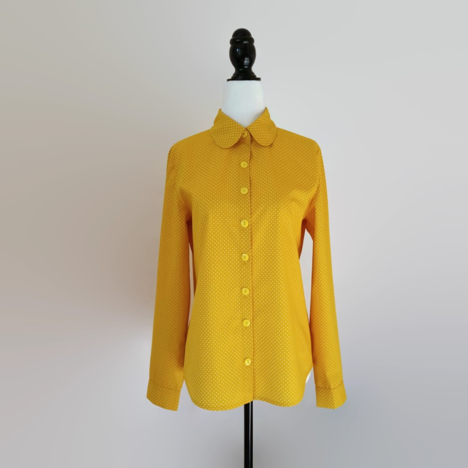 Women's Yellow Polka Dot Shirt de RebeccasAtelier