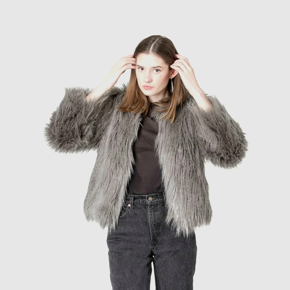 FAUX FUR coat Guess jacket de BetterStayTogether